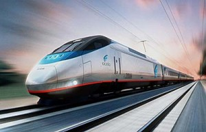 "An artist's rendering depicts Amtrak's new high-speed ""Acela"" train. Amtrak took the wraps off the nation's first high-speed rail system Tuesday March 9, 1999, a $2 billion service that will race between Boston, New York and Washington at 150 mph. The new trains are scheduled to start running in October along tracks that Amtrak currently uses for its Northeast Corridor service. (AP Photo/Amtrak)"
